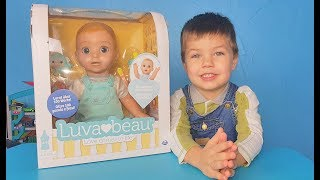 Richard open new doll Luvabeau for kids