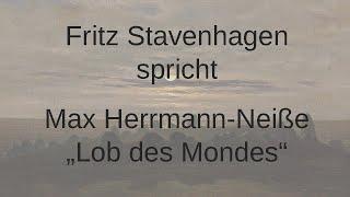 """Max Herrmann-Neiße – """"Lob des Mondes"""""""