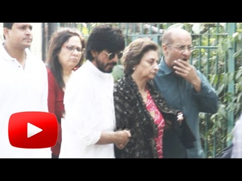 Shahrukh Khan & Gauri Khan Attends Father In Law's FUNERAL