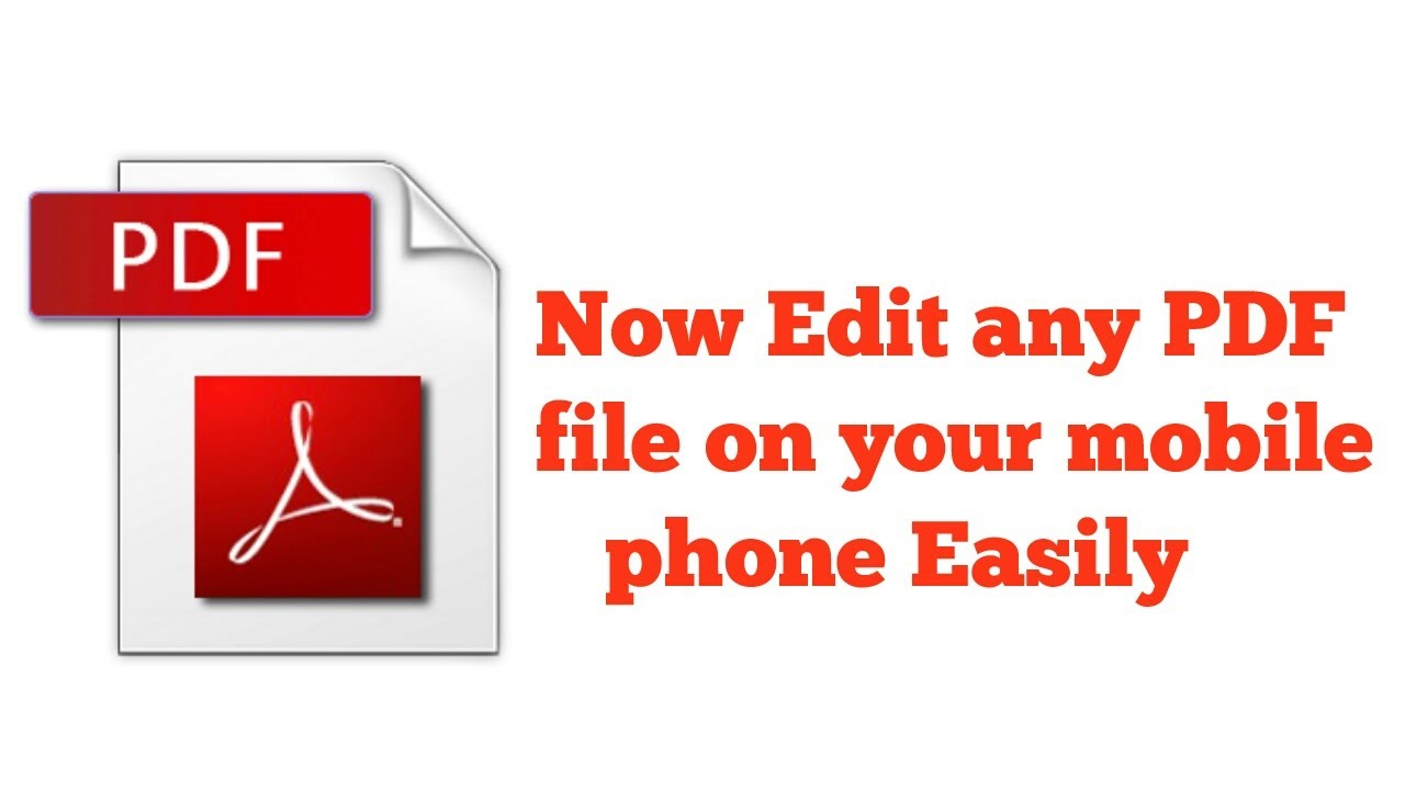 How To Edit Pdf File On Mobile Phone 2017