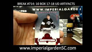 *EXPO* Case Break #714 : 17-18 UD ARTIFACTS 10 BOX CASE BREAK HOCKEY NHL
