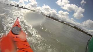 Lake Michigan Kayak Surfing With CASKA (Chicago Area Sea Kayak Association)