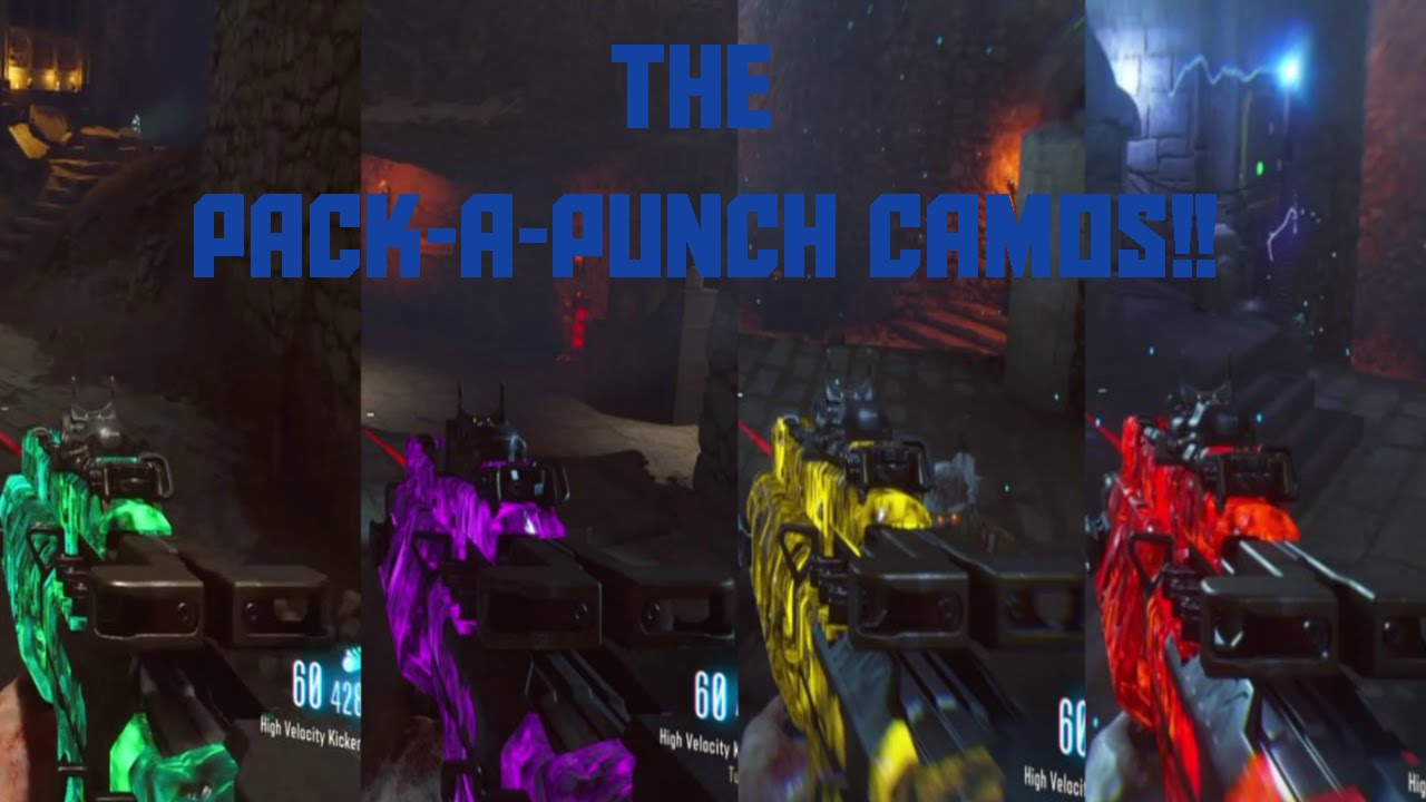 All Der Eisendrache Pack A Punch Camos Black Ops 3 Zombies