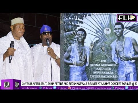 39 YEARS AFTER SPLIT, SHINA PETERS AND SEGUN ADEWALE REUNITE AT AJUMN'S CONCERT FOR SSP @ 60