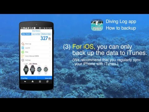 TUSA Diving LOG App - How to Change Settings