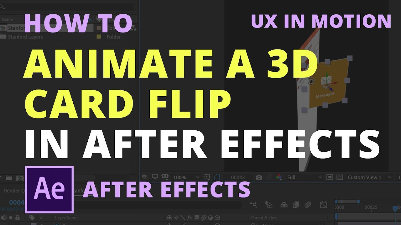 How to Animate a 3D Card Flip in After Effects