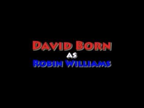 David Born as Robin Williams on the Television Series Community.