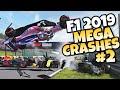 F1 2019 MEGA CRASHES #2
