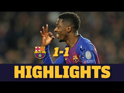 BARÇA 1-1 TOTTENHAM | Match highlights