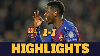 Download Video BARÇA 1-1 TOTTENHAM | Match highlights MP3 3GP MP4