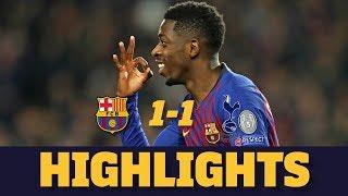 BARÇA 1-1 TOTTENHAM | Match highlights