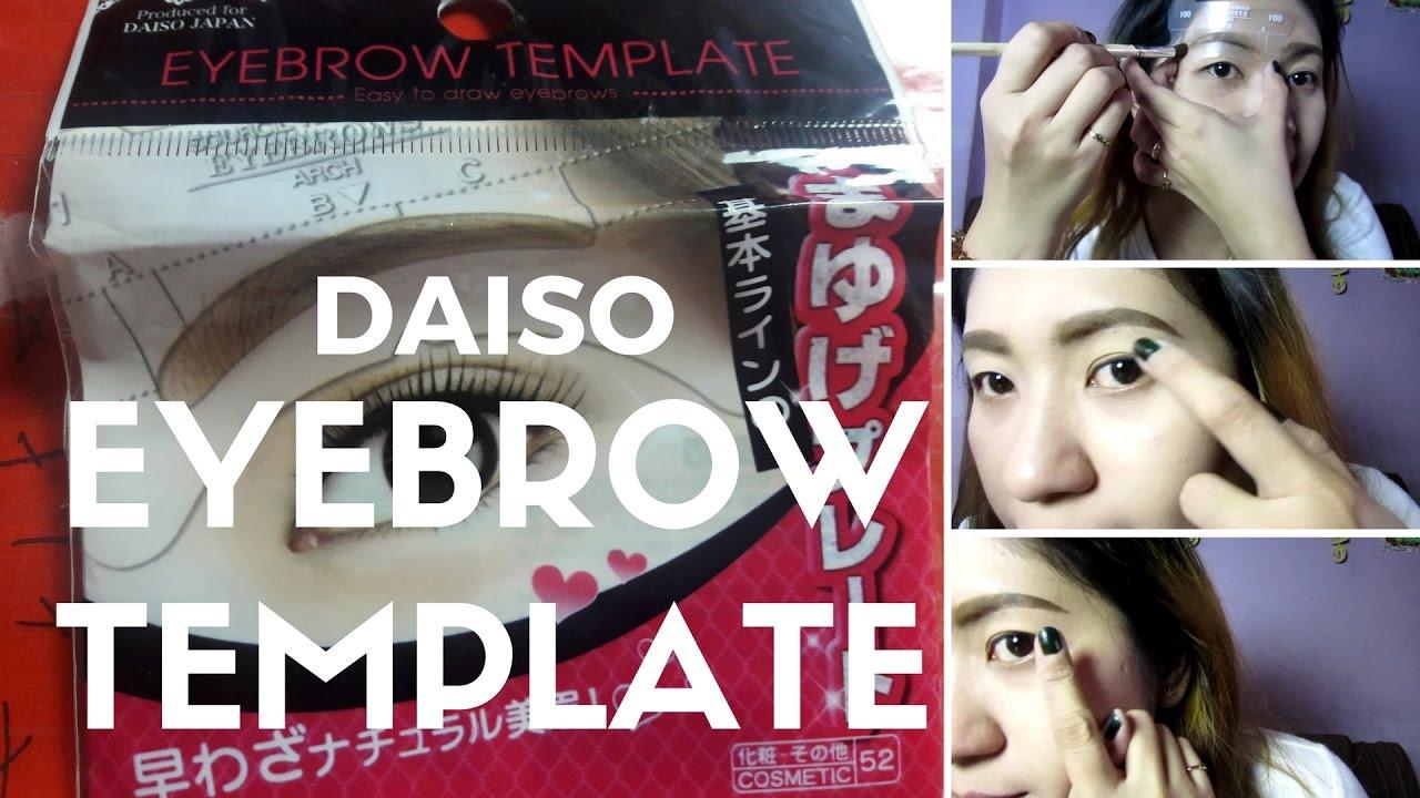 Try Natin Daiso Eyebrow Template Fheigesmundovlogs Youtube