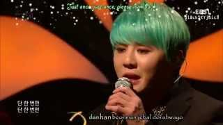 XIA Junsu - Love Is Like Snowflake LIVE @ EBS Space Empathy [han / rom /eng]