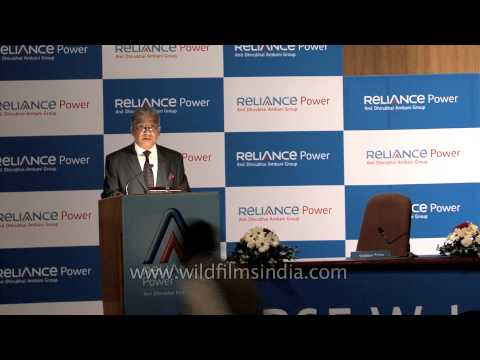 Shekhar Datta speaks at the IPO listing ceremony of Reliance Power - Mumbai