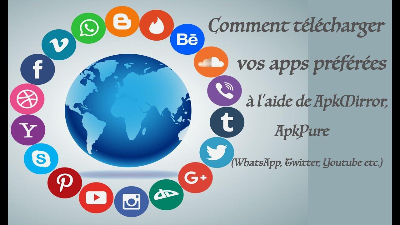 Download Comment télécharger vos apps préférées à l'aide de Appkmirror & APKpure (#WhatsApp, #TikTok...)?