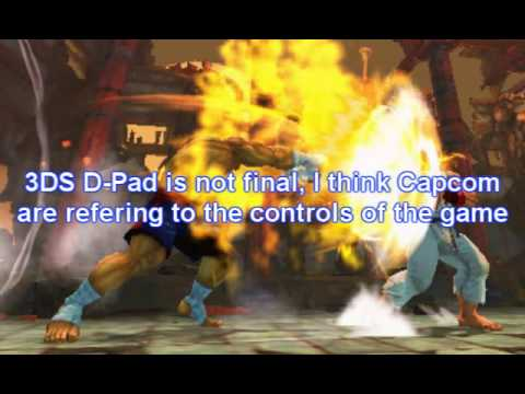 New Super Street Fighter IV 3DS INFORMATION-NICE LOOKING GAME FOR THE NINTENDO 3DS