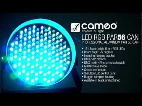 Cameo Light PAR 56 CAN - 151 x 5 mm LED PAR Can RGB