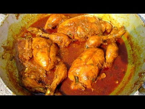 Whole CHICKEN CURRY Recipe - Full CHICKEN Gravy Prepared By My Daddy - Indian Village Style Cooking
