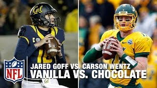 Goff vs. Wentz = Vanilla vs. Chocolate? | NFL