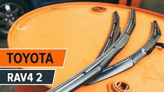 Como mudar Escovas do limpa parabrisas TOYOTA RAV 4 II (CLA2_, XA2_, ZCA2_, ACA2_) - tutoriais