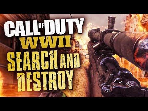 RETRO SEARCH & DESTROY SNIPING! (Call Of Duty: WW2)