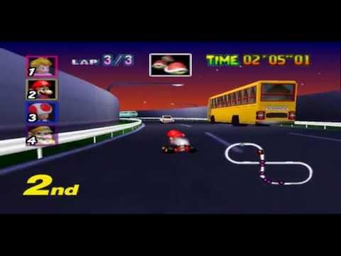 Nintendo 64 longplay - Mario Kart 64 - 4 Cup 150cc Mario Run (0:54:30)