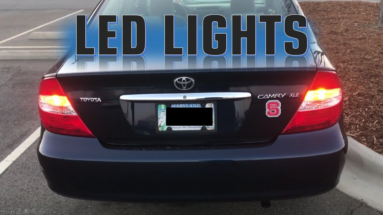 2003 Toyota Camry Led Tail Lights And Turn Signals Youtube