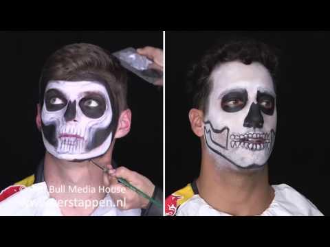 Time-lapse: Max Verstappen and Daniel Ricciardo in Dia de Muertos face paint, Mexico GP, 28/10/2016