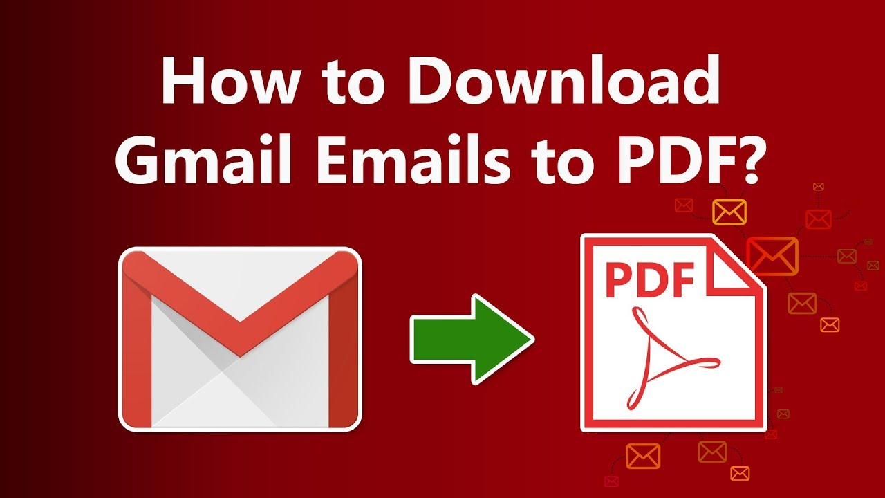 Download Gmail Emails To Pdf With Attachments Bulk Export Gmail To Pdf How To Guide Youtube