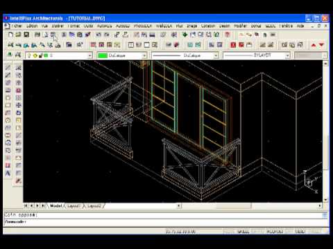balcon 3d logiciel architecture 3d en dwg tutoriel intelliplus architectural youtube. Black Bedroom Furniture Sets. Home Design Ideas
