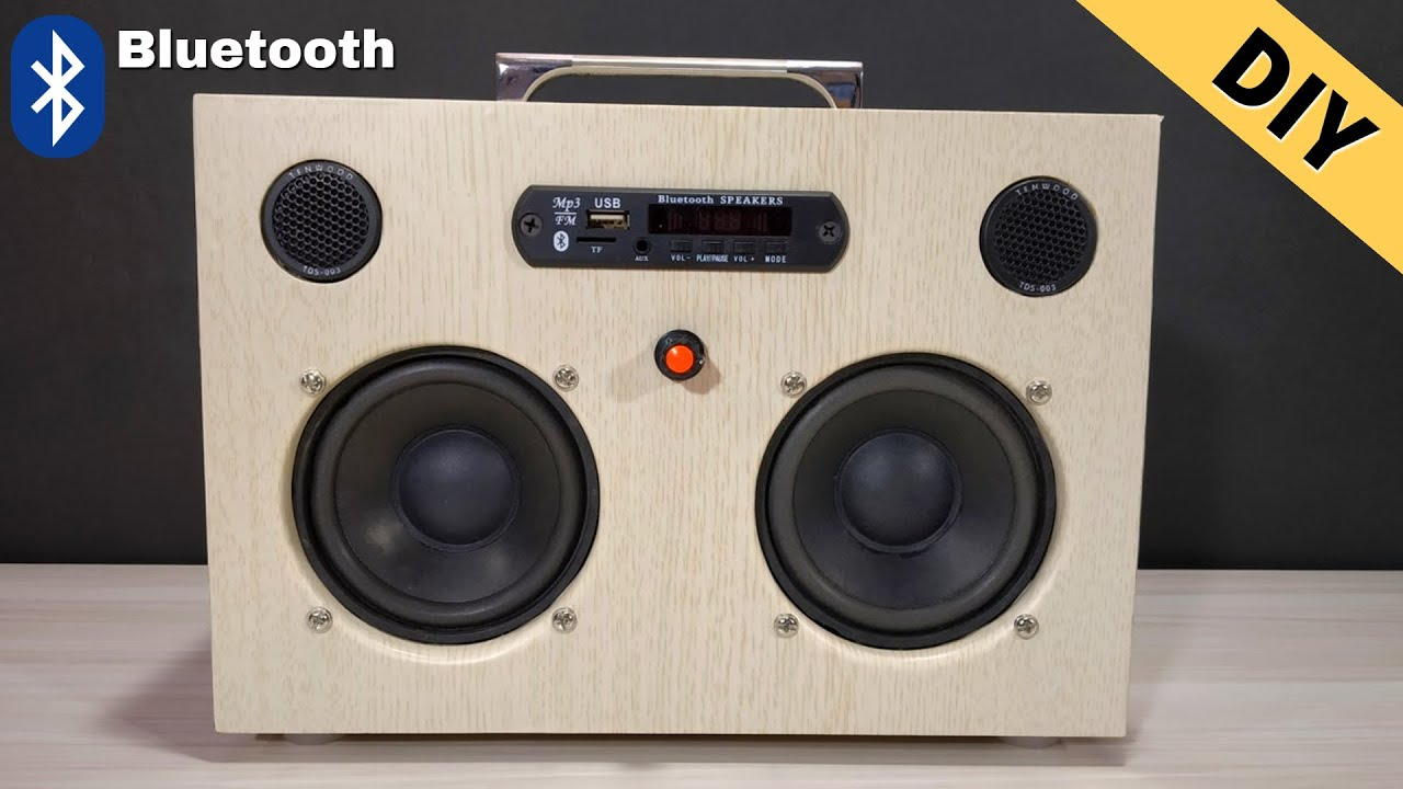 Diy Bluetooth Boombox Speaker How To Make Bluetooth Boombox Speaker