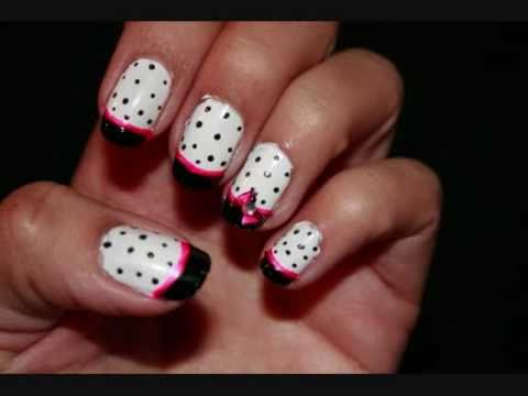 Nail Art Designs With Bows Choice Image Easy Nail Designs For