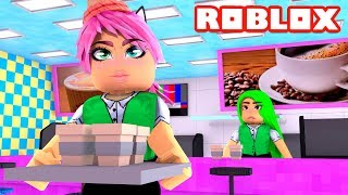 WORKING IN A CAFETERIA at Roblox Work at a Coffee Shop Español