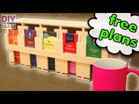DIY Tea Shelf - FREE PDF Plan to Download