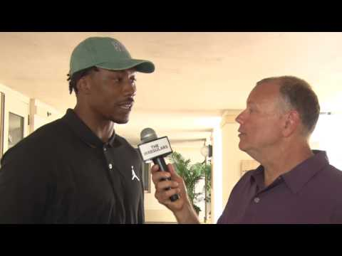 Brandon Marshall Talks NY Giants & Jason Taylor at Jason Taylor Celebrity Golf Classic