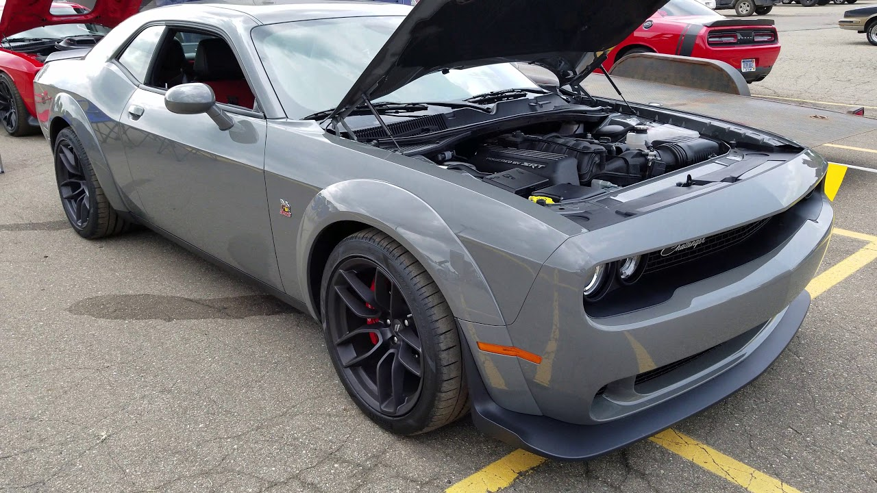 2019 Destroyer Grey Dodge Challenger R T Scat Pack Widebody Youtube