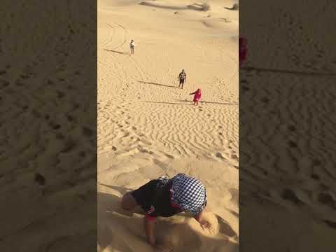 Dubai Desert dune bashing with our La Brina kids sliding Dunes 2019