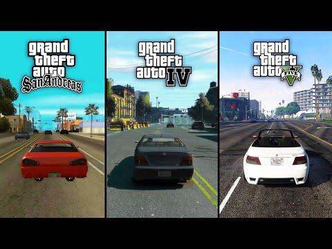 GTA 5 Vs GTA 4 Vs GTA San Andreas