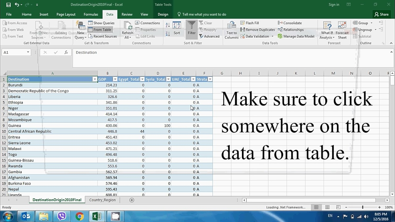 How to join two tables in Excel 2016 [100% working solution]