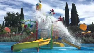 Water splash in slow motion