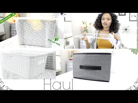 Dollar Store Storage Organization Haul + DIY | Tips