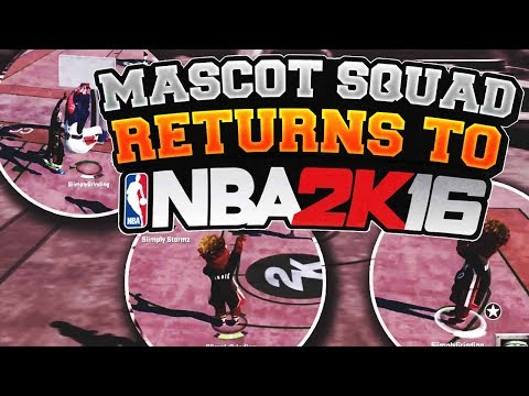 MASCOT SQUAD RETURNS TO NBA 2K16!! 7'3 DEMI GAWD TAKES OVER THE PARK!!! SAY GOODBYE TO NBA 2K16...