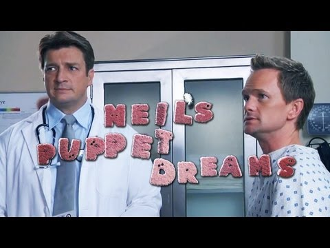 NEIL PATRICK HARRIS & NATHAN FILLION in DOCTOR'S OFFICE  Neil's Puppet Dreams