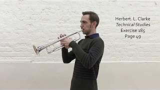 H. Clarke Triplets page in one breath Trumpet Challenge