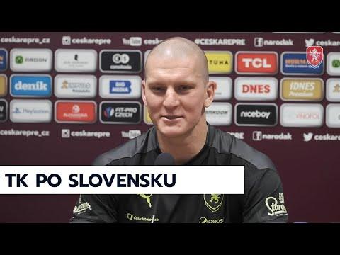 ČR A   Tisková konference po výhře nad Slovenskem