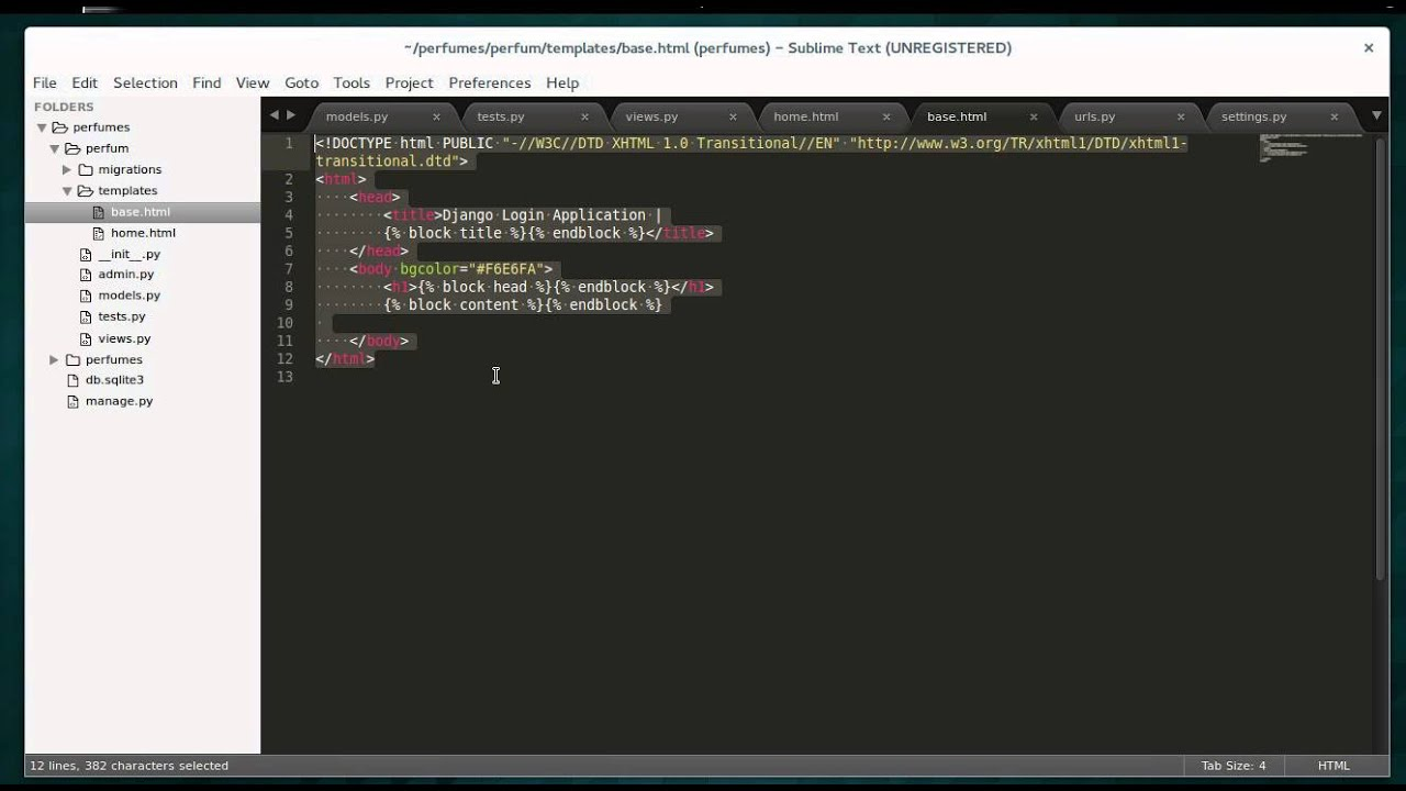 How to use HTML page in Django - YouTube