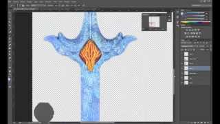 Photoshop | Make a texture of fire and ice for a sword Part 2 ice