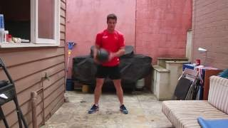 Slam ball complete body workout - dead ball