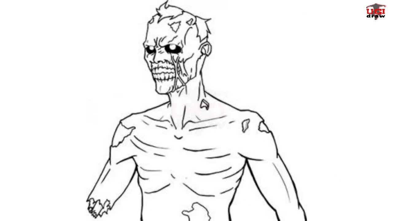 Uncategorized Simple Zombie Drawing how to draw a zombie easy step by drawing tutorials for kids ucidraw