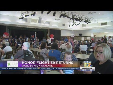 Honor Flight veterans welcomed home at Garces Memorial High School